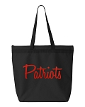 Patriots.  Zipper Tote Bag