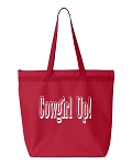 Cowgirl Up!  Zipper Tote Bag