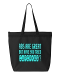 Abs Are Great But Have You Tried Cupcakes?  Zipper Tote Bag