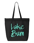 Lake Bum.  Zipper Tote Bag