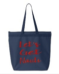 Let's Get Nauti.  Zipper Tote Bag