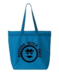 Resting Bitch Face.  Zipper Tote Bag