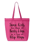Some Girls Are Made Of Barley & Hops & A Pair Of Flip Flops.  Zipper Tote Bag