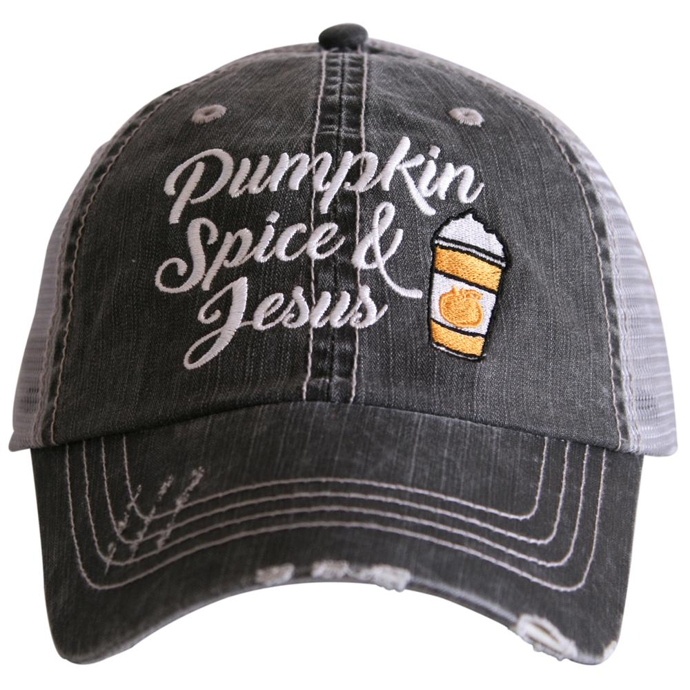 Pumpkin Spice & Jesus.  Women's Trucker Hat