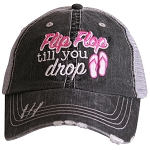 Flip Flop Till You Drop.  Women's Trucker Hat