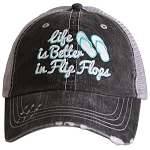 Life Is Better In Flip Flops.  Women's Trucker Hat