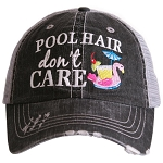 Pool Hair Don't Care.  Women's Trucker Hat