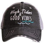High Tides & Good Vibes.  Women's Trucker Hat