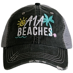 A1A Beaches.  Women's Trucker Hat