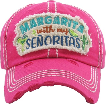 Margarita With My Senoritas.  Vintage Ball Cap