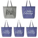 Bride To Be & Bride's Entourage Zipper Tote Bag
