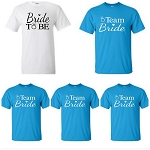 Bride To Be & Team Bride Bridal Party Universal Fit T-Shirts
