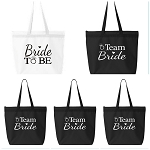 Bride To Be & Team Bride Zippered Tote Bag