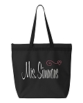 Personalized Mrs. Tote Bag.  Perfect for the Bride or Bride To Be