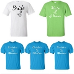 Bride, Mate of Honor, & Bride's Mates.  Nautical Theme Bridal Party T-Shirt