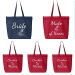 Bride, Mate of Honor, & Bride's Mates.  Nautical Themed Tote Bag