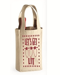 Let's Get Lit.  Double Bottle Wine Tote