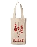 Nice Balls.  Double Bottle Wine Tote