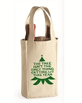 The Tree Isn't The Only Thing Getting Lit This Year.  Double Bottle Wine Tote