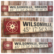 Custom GPS Coordinates With City and State.  Rustic 4 Foot Long Wood Sign.