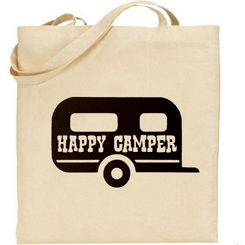 Happy Camper.  Canvas Tote Bag