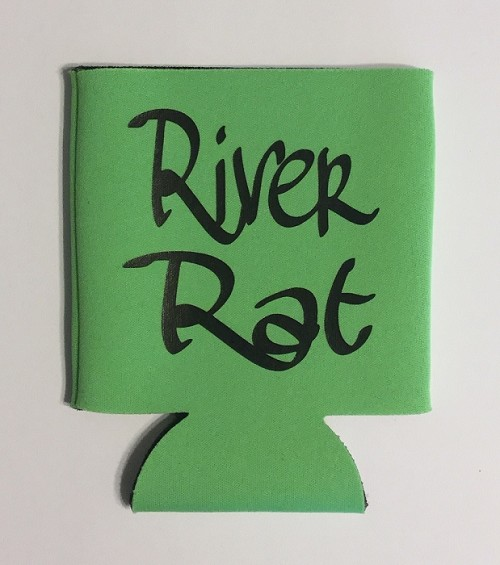 River Rat.  Collapsible Can Cooler / Coozie