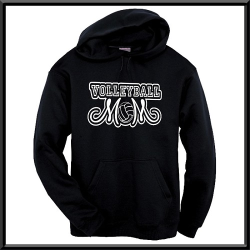 Volleyball Mom Hoodie With Option To Personalize With Childs Name and Number