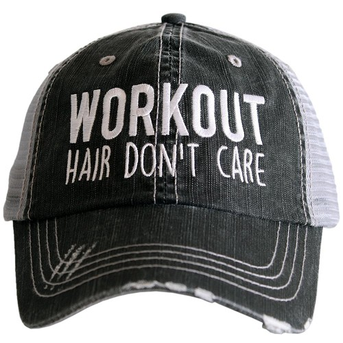 Workout Hair Don't Care.  Women's Trucker Hat