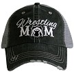 Wrestling Mom.  Women's Trucker Hat - Black