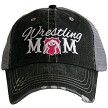 Wrestling Mom.  Women's Trucker Hat - Hot Pink