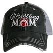 Wrestling Mom.  Women's Trucker Hat - Red