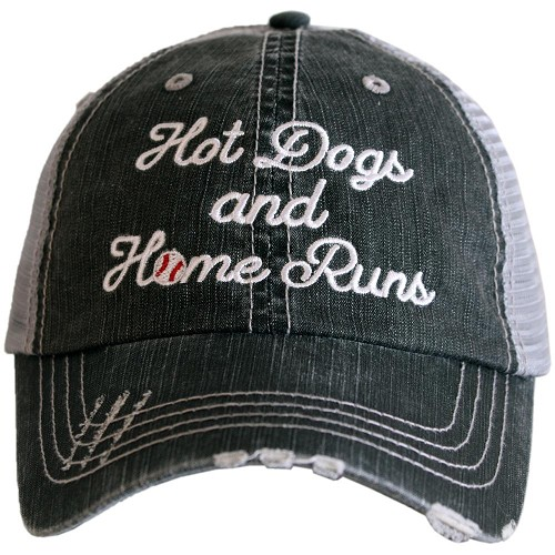 Hot Dogs And Home Runs.  Women's Trucker Hat