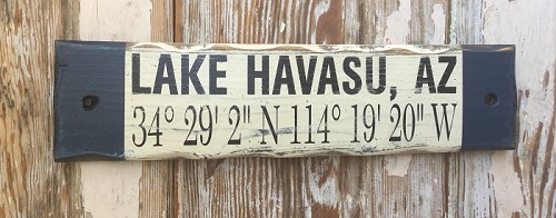 Custom GPS Coordinates Sign. Rustic Wood Sign.