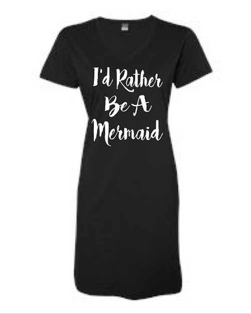 I'd Rather Be A Mermaid.  V-Neck Swim Suit Cover Up