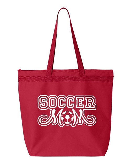 Soccer Mom.  Zipper Tote Bag