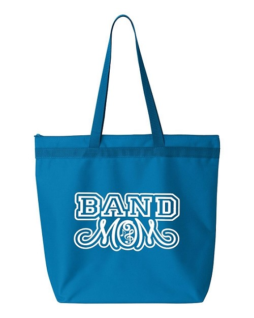 Band Mom.  Zipper Tote Bag
