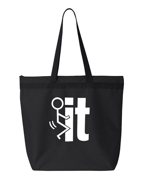 Fuck It!  Zipper Tote Bag