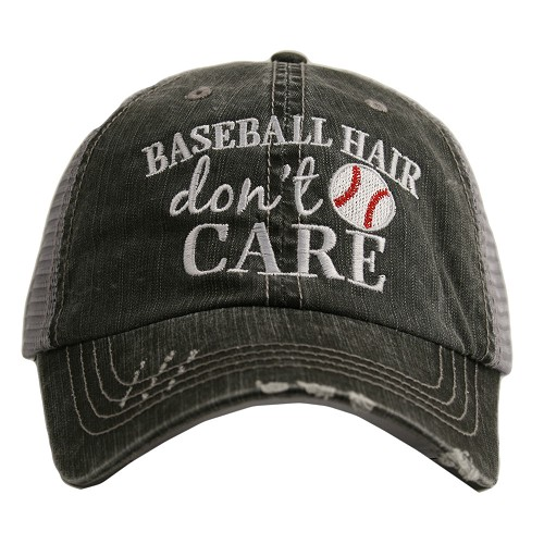 Baseball Hair Don't Care.  Women's Trucker Hat