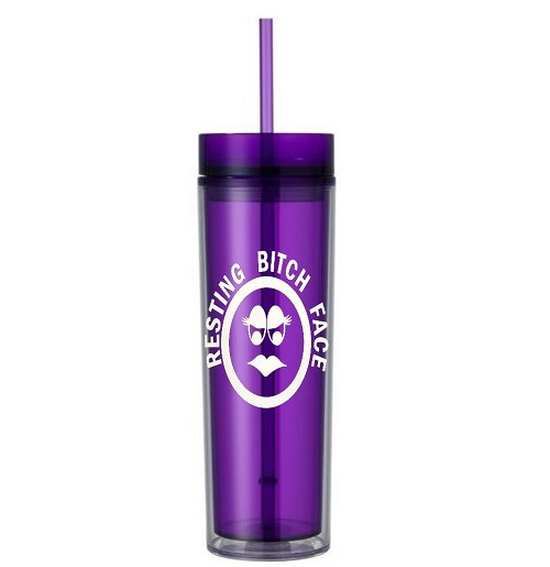 Resting Bitch Face. 16 ounce Tumbler