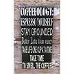 Coffeeology.  Subway Style Wood.   Wood Sign