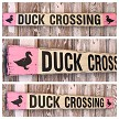 Duck Crossing.  Rustic 4 Foot Long Wood Sign