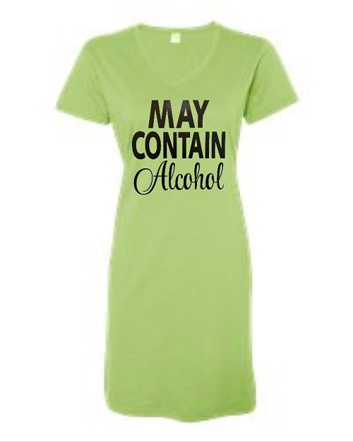 May Contain Alcohol. V-Neck Swim Suit Cover Up