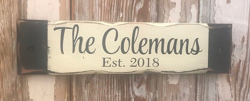 Custom Family Name Sign with Year Established.  Rustic Wood Sign