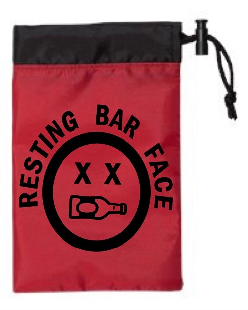 Resting Bar Face.  Cinch Tote