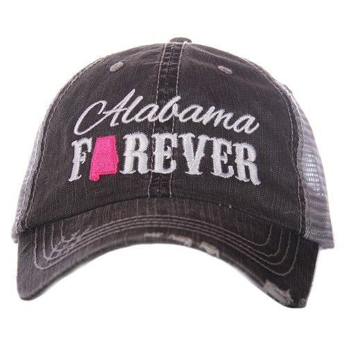 Alabama Forever.  Women's Trucker Hat - Hot Pink