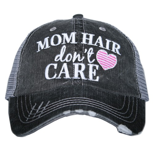 Mom Hair Don't Care.  Women's Trucker Hat - Hot Pink
