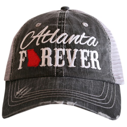Atlanta Forever.  Women's Trucker Hat - Red