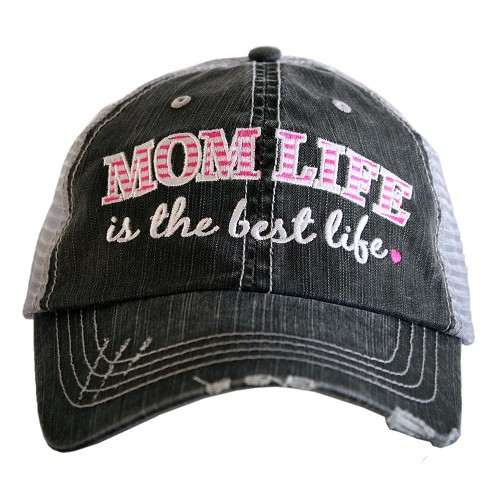 Mom Life Is The Best Life.  Women's Trucker Hat - Pink