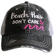 Beach Hair Don't Care.  Women's Trucker Hat - Hot Pink