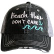 Beach Hair Don't Care.  Women's Trucker Hat - Mint